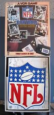 NFL FOOTBALL VCR TRIVIA GAME THREE GAMES IN ONE 1986 VHS HI-FI DIGITAL STEREO