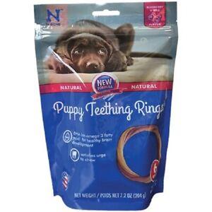 N-BONE Puppy Teething RING Grain Free BLUEBERRY & BBQ Treat  6 Pak MADE IN USA