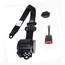 Universal Retractable 3 Pt Short Iron Rod Buckle Auto Car Safety Seat Lap Belt