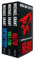 Michael Grant The Monster Series 3 Books Collection Set Monster, Villain & Hero