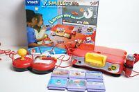 vtech V. Smile Konsole mit Zubehör 6 Spiele Disney Lernkonsole vsmile cars