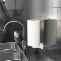 Toilet Wall Mount Vertical Paper Dispenser Free Punch Tissue Paper Towel Holder