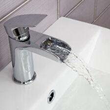 Modern Chrome Waterfall Bathroom Basin Mixer Tap