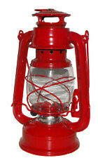Lampe lanterne tempête à pétrole / rouge