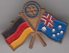 Rotary International German Australia combined flag badge by Adam Donner, nice