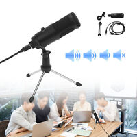 Microphone w/ Tripod Stand USB Condenser Computer Game Chat Studio Recording