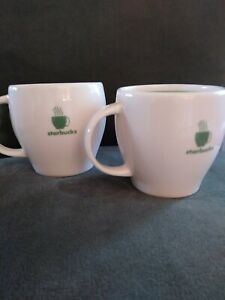 STARBUCKS 2003 SET OF 2 MATCHING 6 OZ DEMITASSE MUGS. EXCELLENT CONDITION!