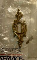 Old Antique Brass Style Victorian Door Knob Lock Skeleton Key Hole Cover Plate