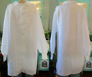 """Best Medical Unisex Lab Coat L/S With Knit Cuffs 42"""" Length White Size 2X"""