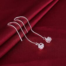 Korean Fashion Womens 925Silver Threader Long Chain Earrings Gift party jewelry