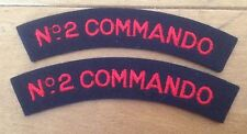 A nice matching pair of No. 2 COMMANDO / SAS Shoulder Title Cloth Patches