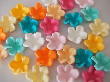 24 x Frangipani Flowers MOANA CUPCAKE TOPPERS Edible Beach Cake Decorations