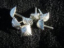6x Bundeswehr Dienstgrad Stern Rangabzeichen Schulterklappen Auflagen Offizier