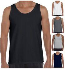 Mens Plain Vest Sleeveless Tank Top Training Gym BodyBuilding Vests Comfy Fit Ck