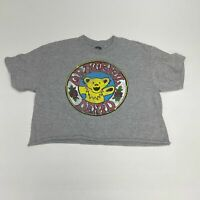 Grateful Dead Cropped T Shirt Men's Small Short Sleeve Gray Crew Cotton Blend