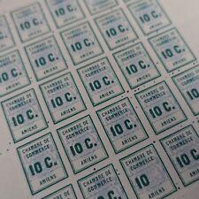 FEUILLE SHEET SELLO DE HUELGA AMIENS N°1 x25 NEUF LUXE MNH CARA