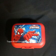 Tupperware New Oyster Packable Storage Container Hinged Design Spiderman Red