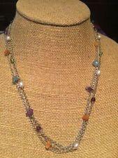 SILPADA Necklace Amethyst Peridot Carnelian Garnet Apatite Pearl Sterling Silver