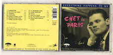 Cd CHET BAKER Chet in Paris Volume 2 Every thing happens to me - Emarcy 1988