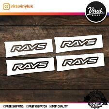 4 X JDM RAYS Stickers Wheels Racing Volk Decals, JDM ,TE37, Rota, BBS