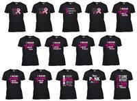 Breast Cancer Awareness Pink Ribbon Women's T-Shirt Survivor Support Ladies Tee