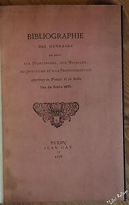 GAY Bibliographie des ouvrages pèlerinages miracles spiritisme EO NUM 1876