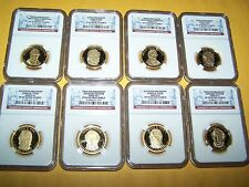 2009-S $ 1 PRESIDENTIAL DOLLAR SET 4 COIN NGC PF69 ULTRA CAMEO & 4 COIN SET NGC
