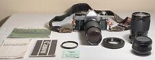 Canon AE-1 Program 35mm Film Camera Lot See Description