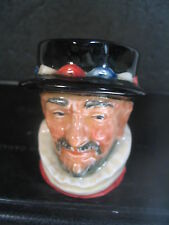 "Royal Doulton BEEFEATER BEEF EATER  2 1/2"" Toby Mug"