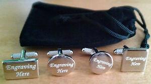 Personalised Engraved Cufflinks wedding Gift Best Man Groom Usher Custom