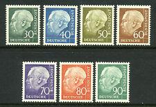 1956-1957 Germany SC 755-761 MI 179-186 MNH President Heuss, Complete Set of 7*