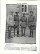 WW1 FOCH HAIG Pershing Pétain Ensemble militairement médaille donnée