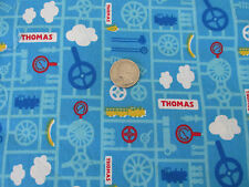 Thomas the Tank Engine Gears Steam Track quilting cotton fabric kids