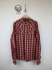 LEVI'S, Mens Size XXL, Red Check, SAWTOOTH, LS Reg Fit Shirt,*EX COND*