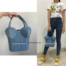 Designer 3D Denim Corset Runway Bag Purse Celebrity love IT bag