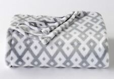 New Fall Abstract Gray Plush Throw Blanket Oversize Super Soft 60x72 Big One