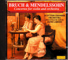 BRUCH & MENDELSSOHN - VIOLIN CONCERTOS / SCOTTISH C O / JAIME LAREDO - CD (1986)