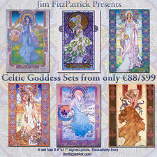 "A4 11/""x8/"" IRISH CELTIC LANDSCAPES SET 1 6 Art Prints by Jim FitzPatrick"