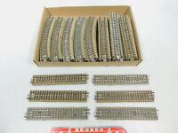 BY807-3# 50 Stück Märklin H0/00/AC M-Gleise Hohlprofil für 3600/800, Bastler/gut