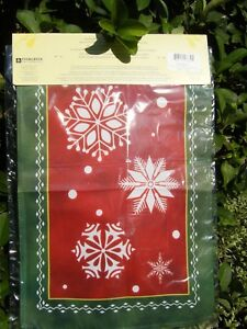 "Evergreen Garden Flag NORDIC SNOW Suede Mini Flag Christmas Holiday 12"" x 18""NEW"