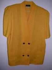 Vintage Stitches Plus womens jacket short sleeve gold label Sz 16 ladies yellow