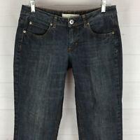 Mixit womens size 6 x 30 stretch blue dark wash low rise slim denim jeans EUC