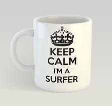 Keep Calm I'm A Surfer Mug Funny Birthday Novelty Gift Surf Surfing