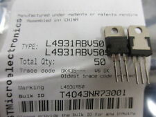 L4931ABV5.0 L4931 STM Voltage Regulator TO220 UK Stock **2 Per Sale**