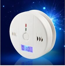 LCD Carbon Monoxide Warning Detector Alarm for Kitchen Bedroom White