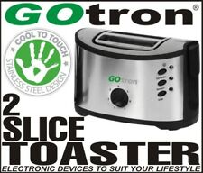 TOASTER STAINLESS STEEL COOL TOUCH 2 SLICE GOTRON TOASTER 12MTH WARRANTY NEW