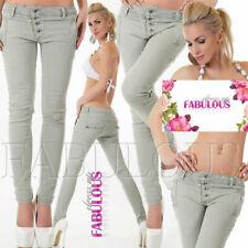 New Women's Skinny Leg Jeans Designer Pants Trousers Size 8 10 12 14 S M L XL