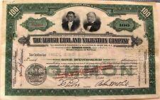LEHIGH COAL & NAVIGATION COMPANY stock cerificate 100 Shares 1930s-1950s