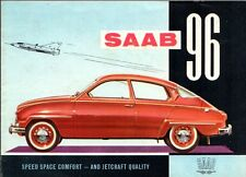 Saab 96 2-Stroke 1960-61 UK Market Small Format Foldout Sales Brochure
