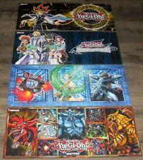 KONAMI YU-GI-OH TRADING CARD GAME HARDCOVER GAMING MAT LOT OF 4 DIFFERENT